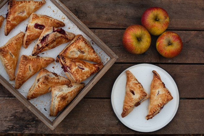 Apple turnover pastries with homegrown apples