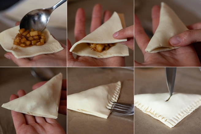 How to fold your apple turnover pastry